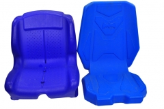 Plastic baby carriage seat